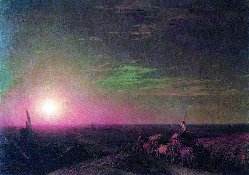 A train of chumak by Ivan Aivazovsky