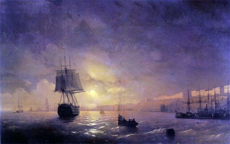 Odessa at night by Ivan Aivazovsky