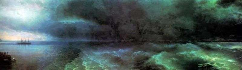 From calm to the hurricane by Ivan Aivazovsky