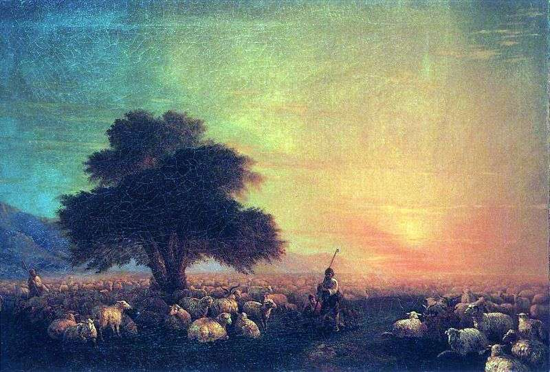 Flock of sheep by Ivan Aivazovsky