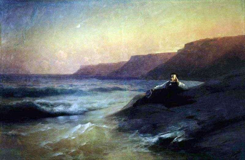 Pushkin on the Black Sea coast by Ivan Aivazovsky