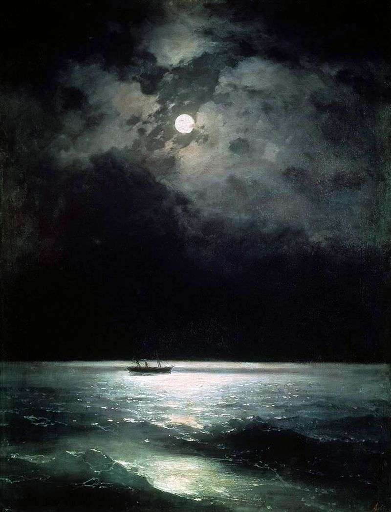 Black sea at night by Ivan Aivazovsky