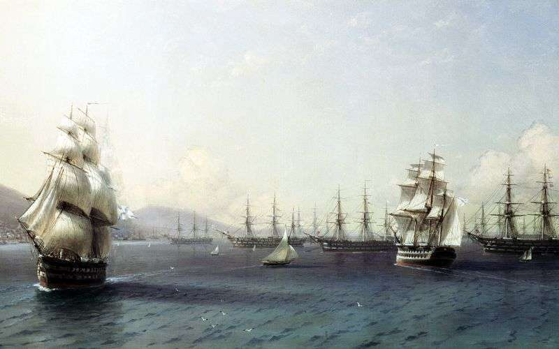 Black Sea Fleet in Feodosia by Ivan Aivazovsky