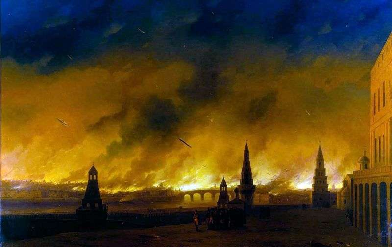 The fire of Moscow in 1812 by Ivan Aivazovsky