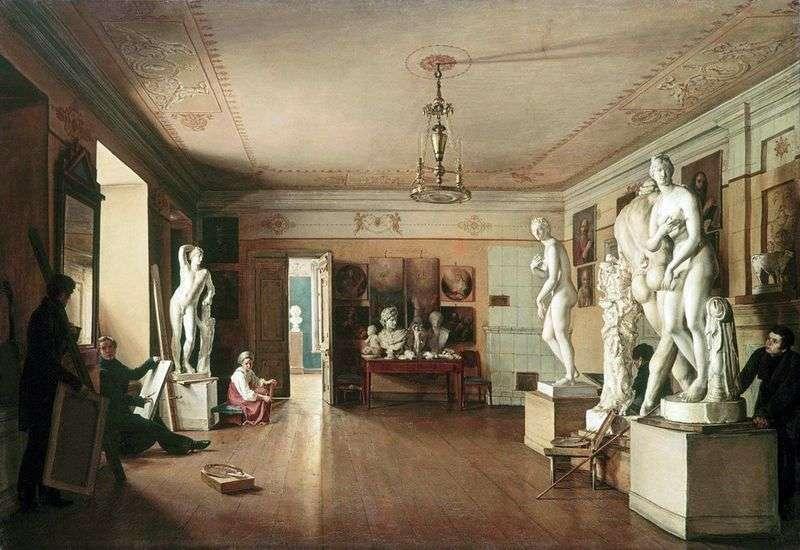 Workshop of the artist A. G. Venetsianov in St. Petersburg by Alekseev Alexander