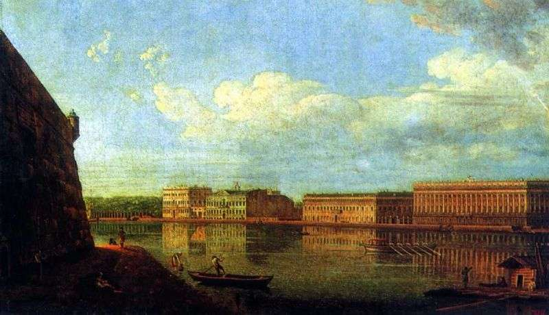 View of the Palace Embankment from the Peter and Paul Fortress by Fedor Alekseev