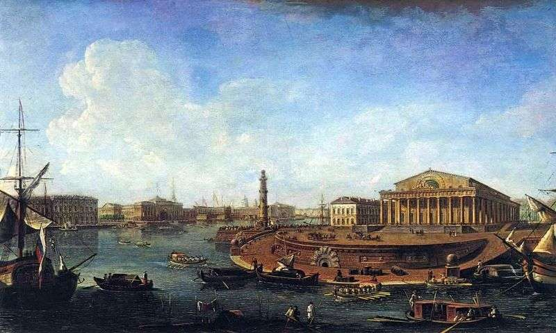 View of the Stock Exchange and Admiralty from the Peter and Paul Fortress by Fedor Alekseev