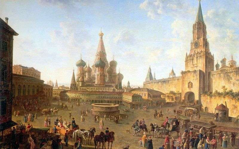 Red Square in Moscow by Fyodor Alekseev