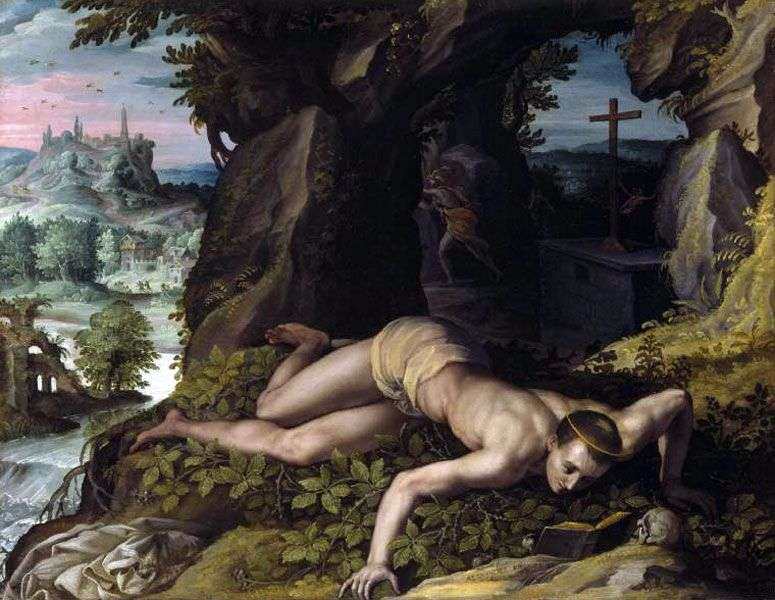 The Temptation of Saint Benedict by Alessandro Allori