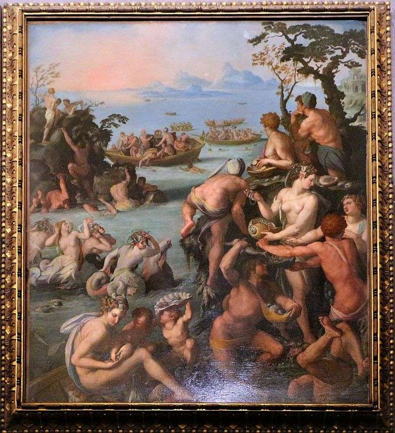 Catching pearls by Alessandro Allori