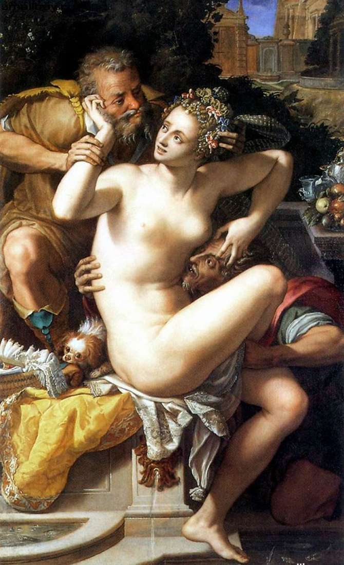 Susanna and the Elders by Alessandro Allori
