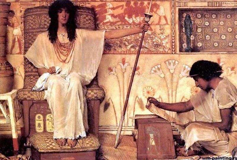 Joseph by the overseer of the granaries of the pharaoh   Lawrence Alma Tadema