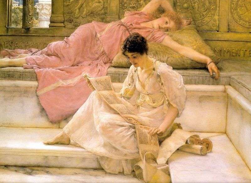 Favorite poet by Lawrence Alma Tadema