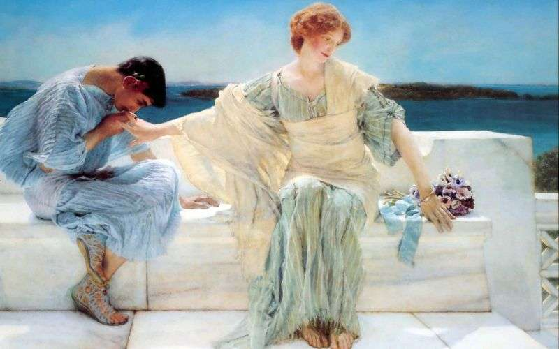 Do not ask me anymore by Lawrence Alma Tadema