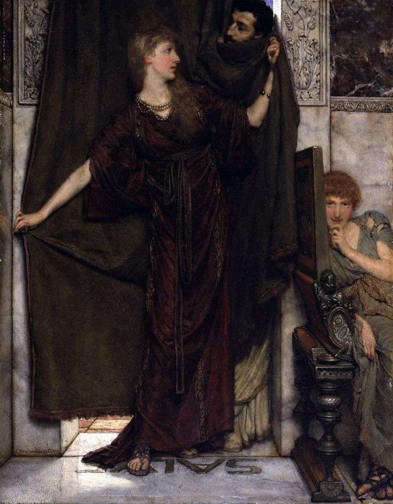 Not at Home by Laurence Alma Tadema