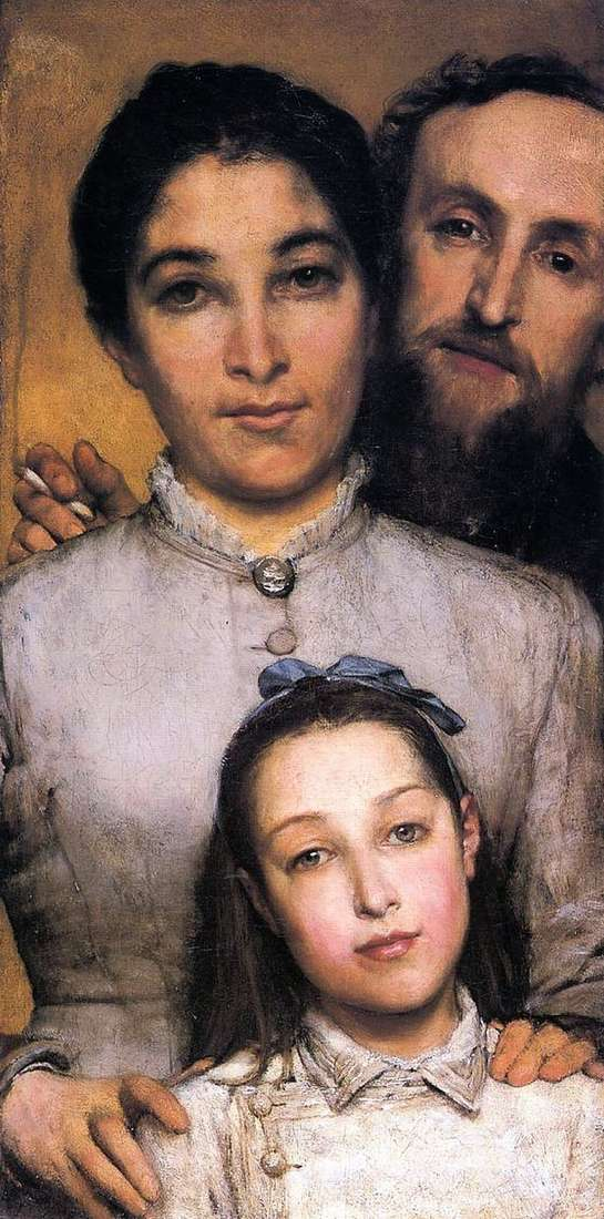 Aime Jules Dalu, his wife and daughter by Laurence Alma Tadema