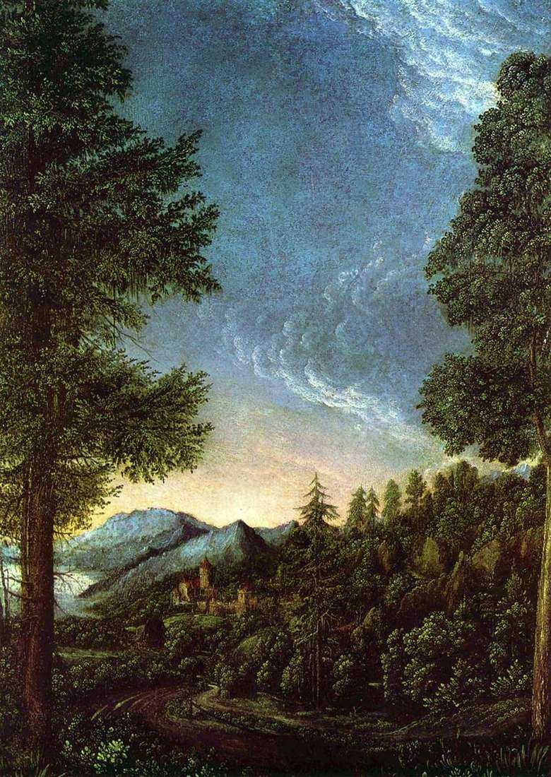 View of the Danube Valley near Regensburg by Albrecht Altdorfer