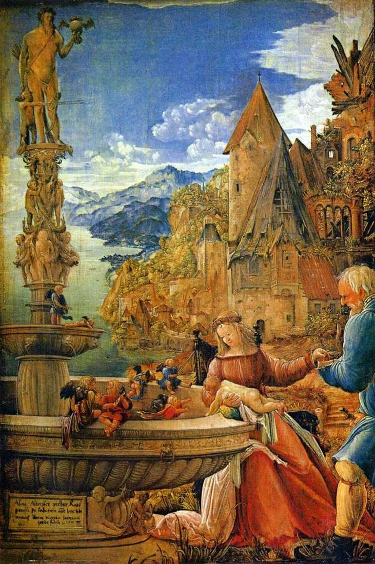 Rest on the way to Egypt by Albrecht Altdorfer