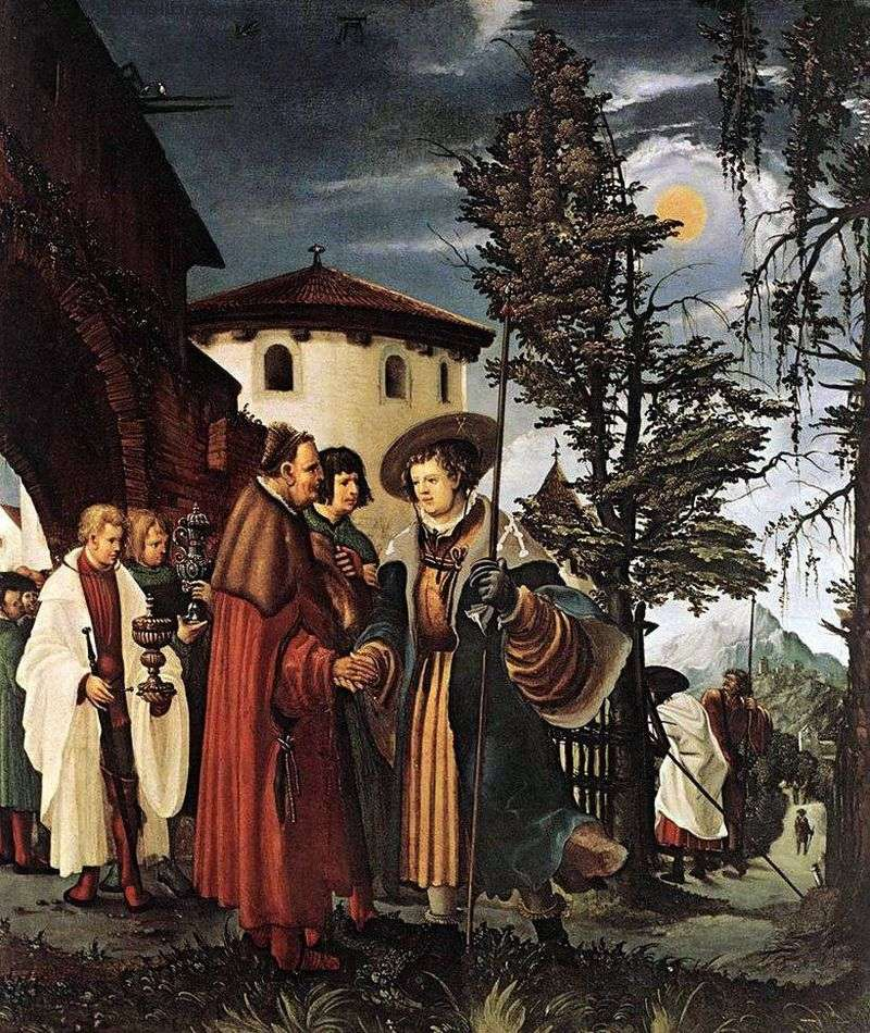 Farewell of St. Florian to the monastery by Albrecht Altdorfer