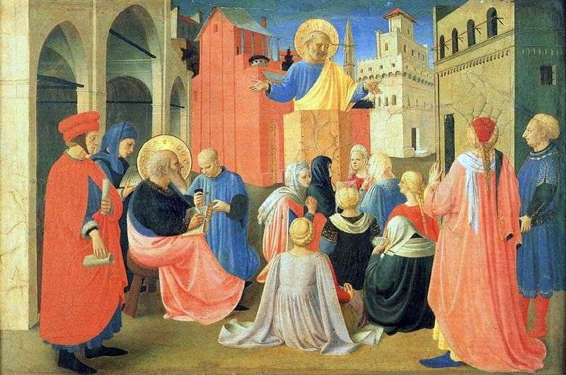St. Peter, dictating the Gospel to St. Mark by Fra Beato Angelico
