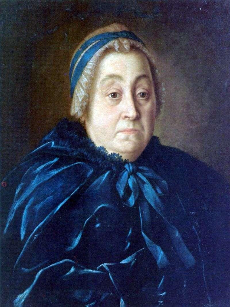 Portrait of Anna Vasilievna Buturlinoy by Alexei Antropov