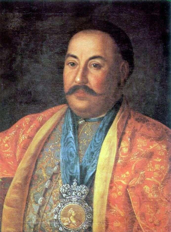 Portrait of Ataman F. I. Krasnoshchekov by Alexei Antropov