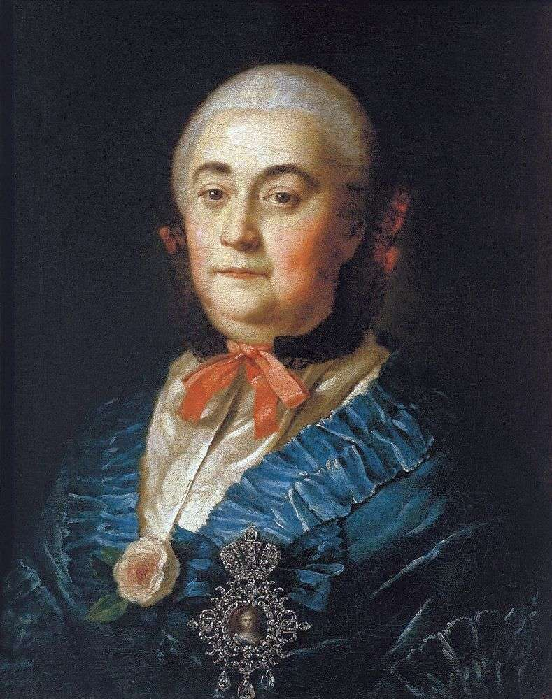 Portrait of the statue lady Anastasia Mikhailovna Izmailova by Alexei Antropov