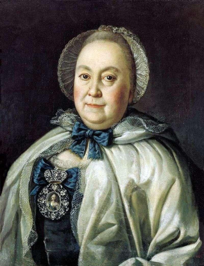 Portrait of the State Lady Maria Andreyevna Rumyantseva by Alexei Antropov