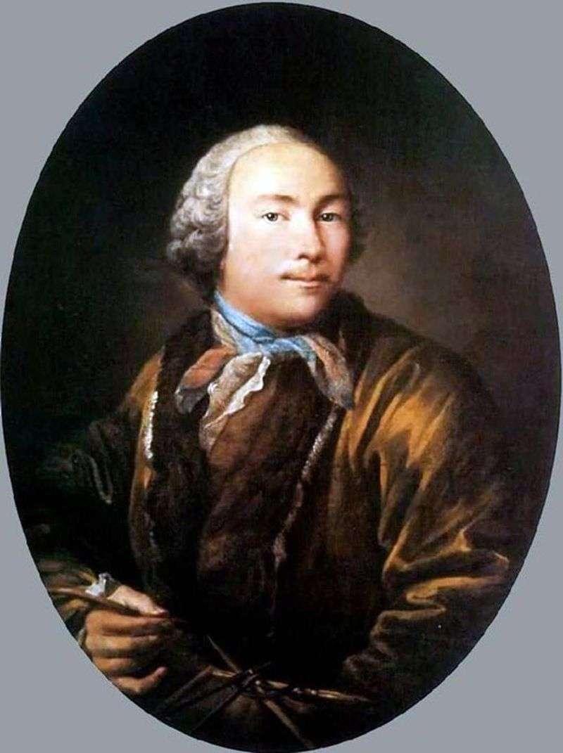 Self portrait by Ivan Argunov