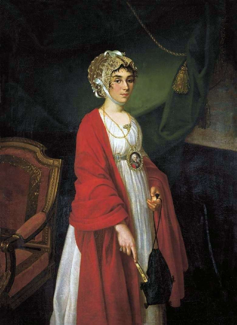 Portrait of actress PI Kovalevoy Zhemchugova by Ivan Argunov