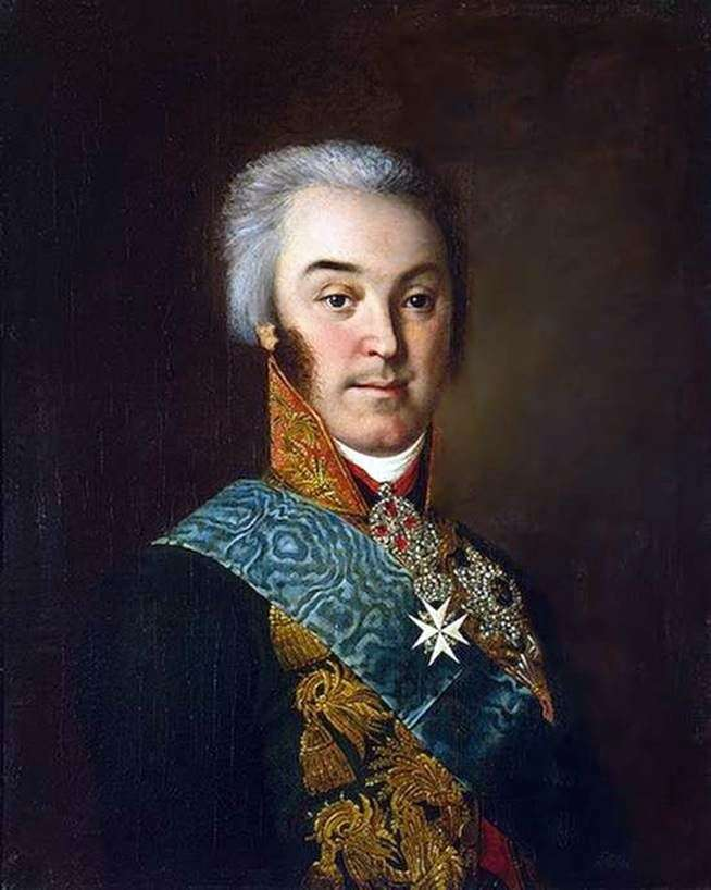 Portrait of N. P. Sheremetyev by Ivan Argunov