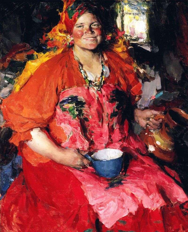 Girl with a jug by Abram Arkhipov