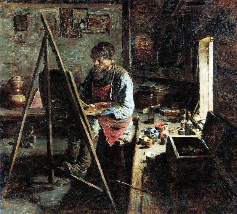 Country icon painter Abram Arkhipov