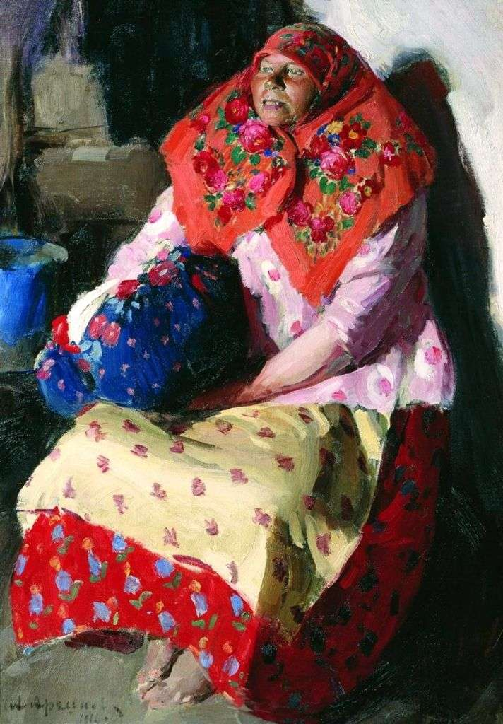 Peasant woman by Abram Arkhipov