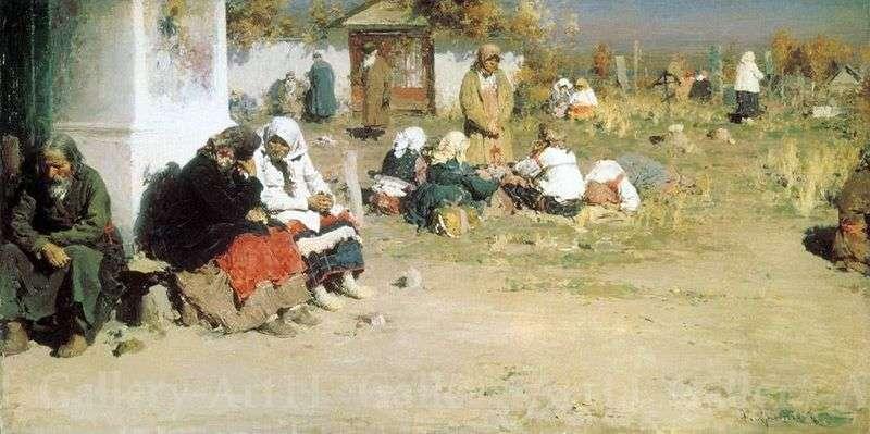 Radonitsa (Before the Mass) by Abram Arkhipov