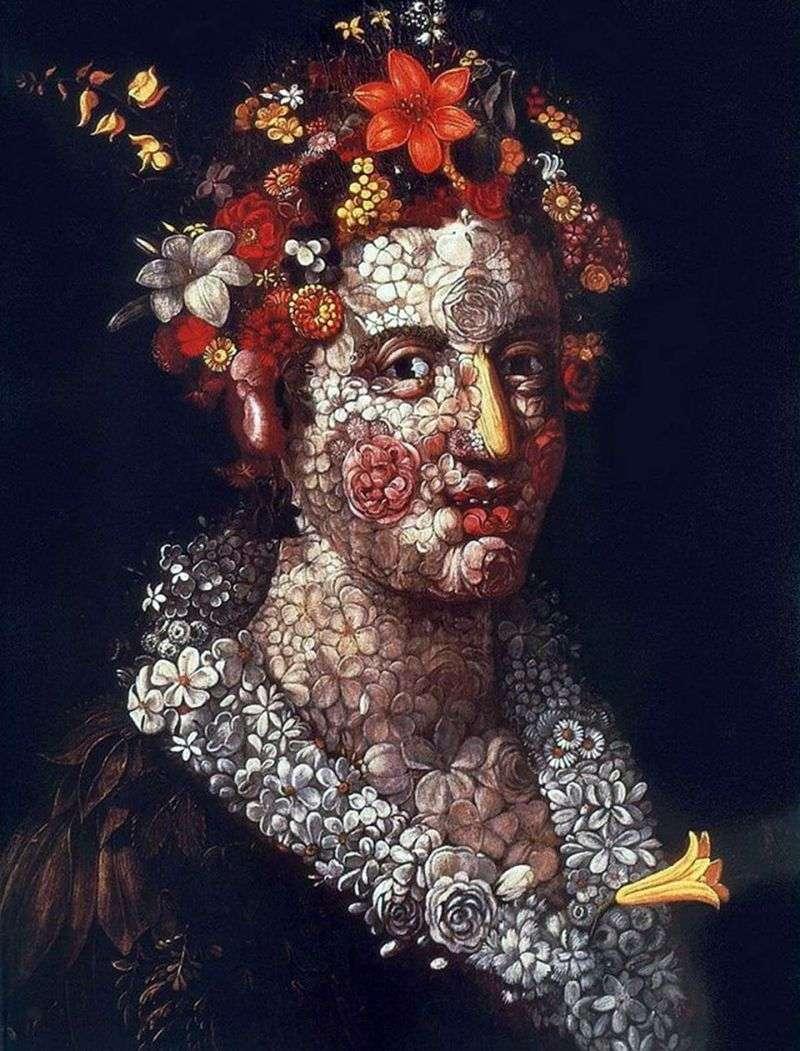 Flora by Giuseppe Arcimboldo