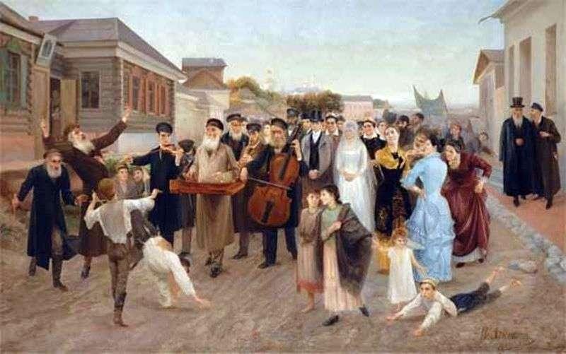 Jewish wedding by Isaac Asknazy