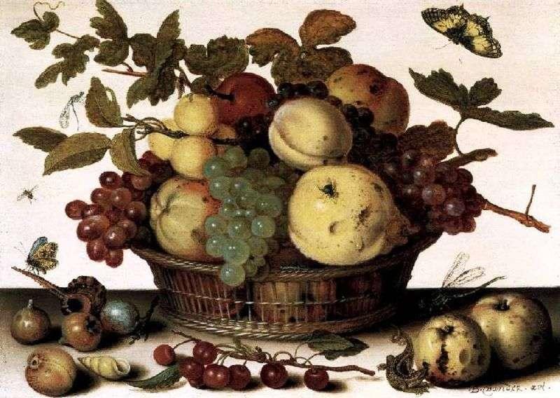 Fruit Basket by Baltazar van der Ast