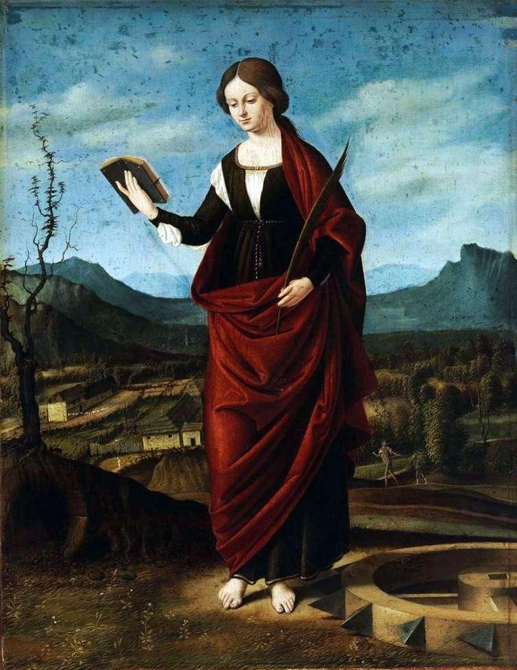 Saint Catherine of Alexandria by Marco Basaiti