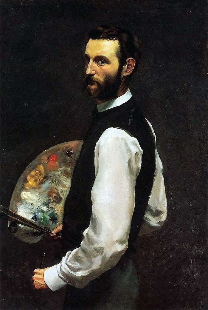 Self portrait by Frederick Basile