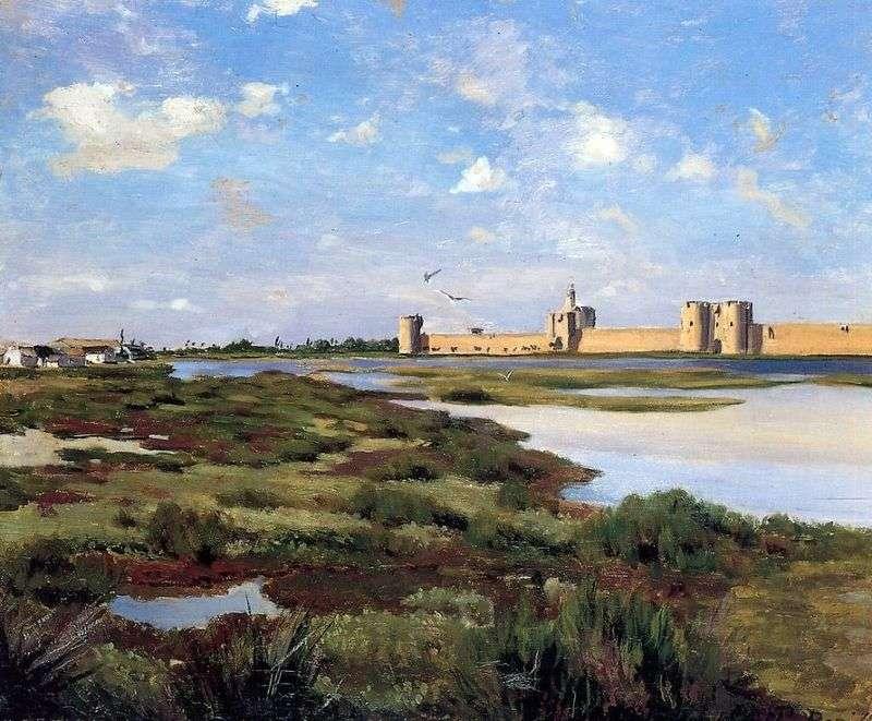 Landscape in Egez Morte by Frederic Basile