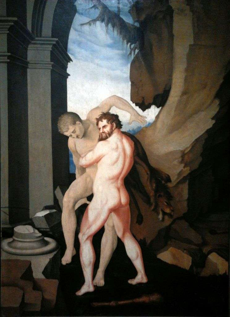 Hercules and Anteus by Hans Baldung