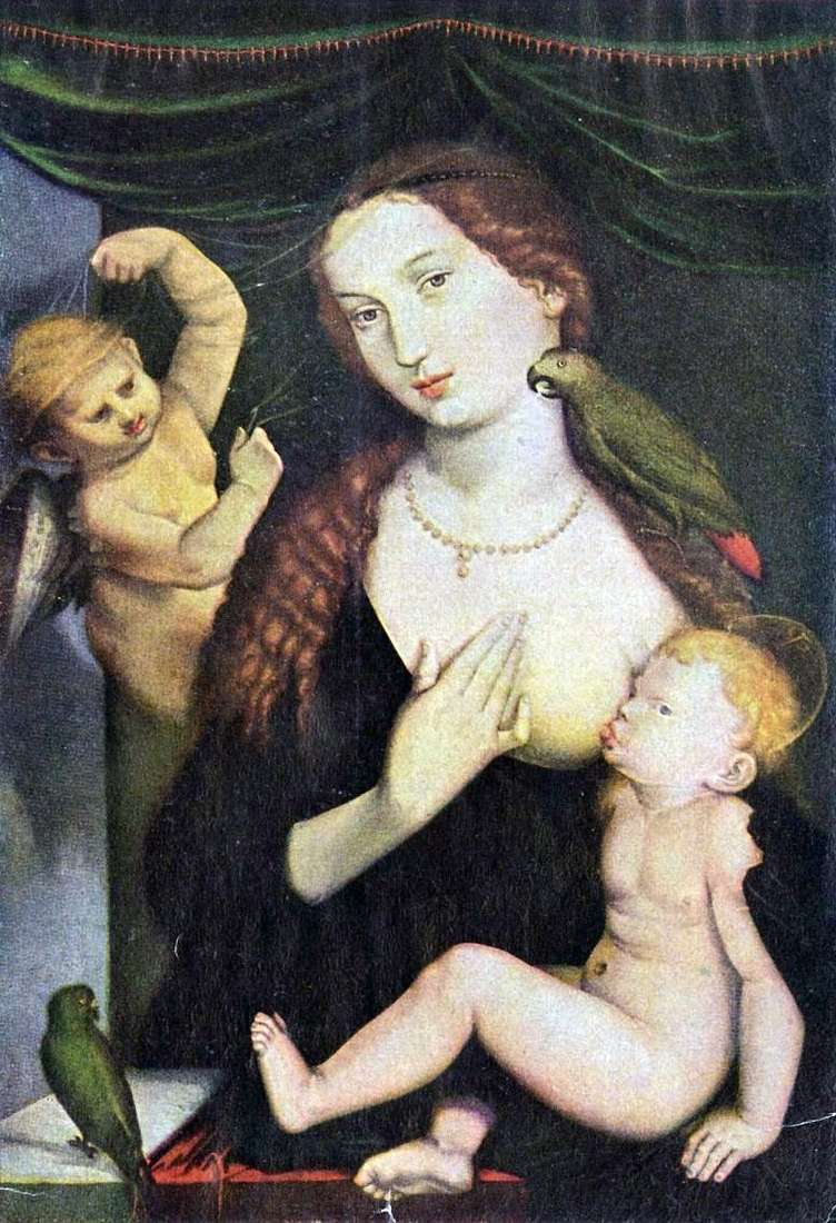 Madonna and Parrot by Hans Baldung