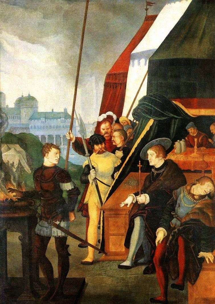 Mutsy Scaevola before King Porsen by Hans Baldung