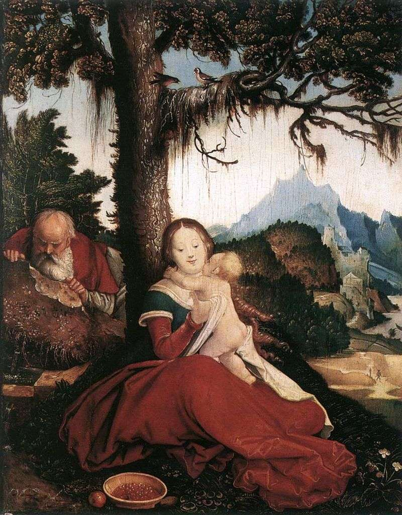 Rest on the way to Egypt by Hans Baldung