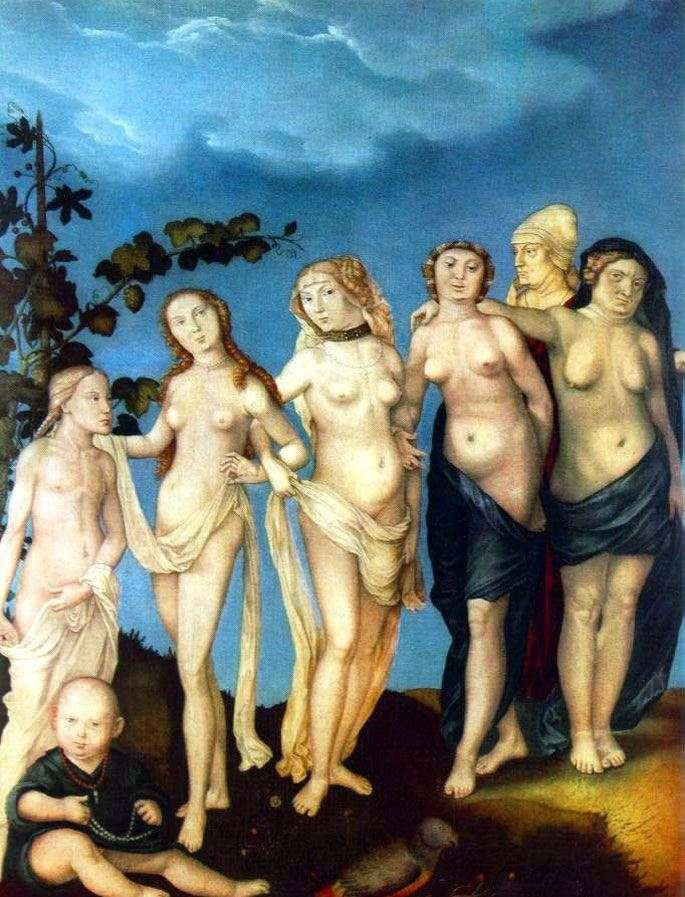 Seven woman ages by Hans Baldung