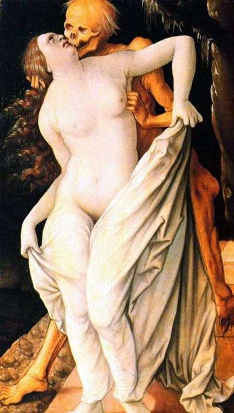 Death and the girl by Hans Baldung