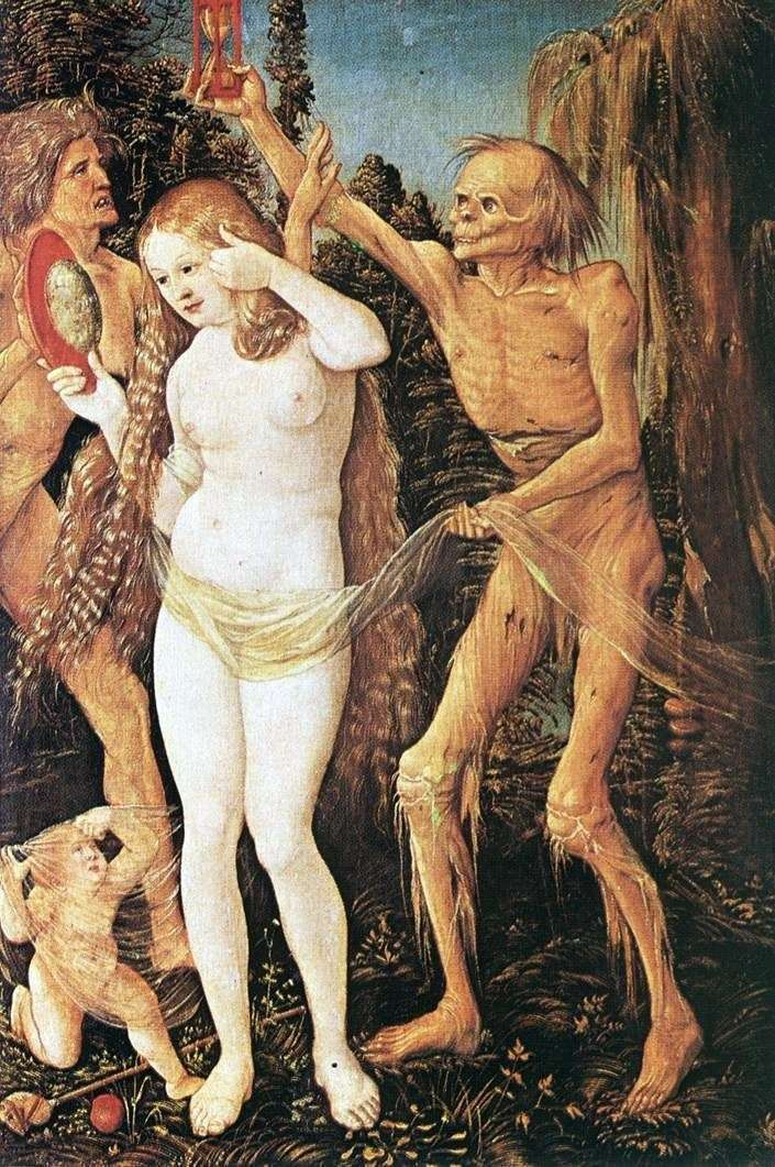 Three ages of woman and death by Hans Baldung