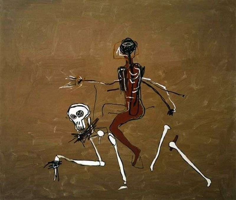 Riding on Death by Jean Michel Basquiat
