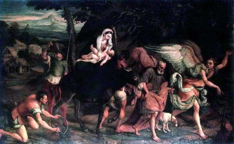 Escape to Egypt by Jacopo Bassano